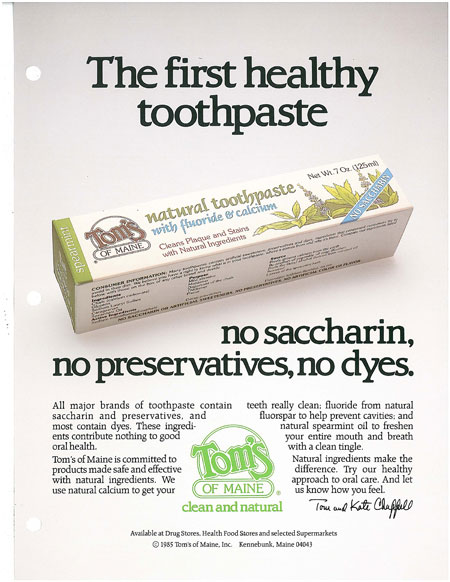 Tom's of Maine natural toothpaste